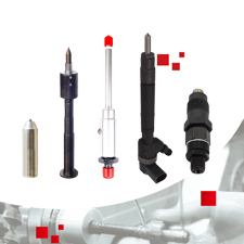 Diesel Engine Injector - Mechanical Injector and CR Injectors Assembly